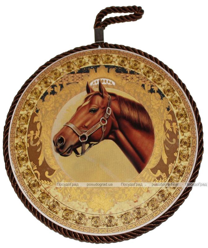 Подставка под горячее Elit Золотая лошадь 17см керамика на пробковой основе