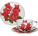 Чайный сервиз Elit Красный гладиолус костяной фарфор 250мл на 6 персон