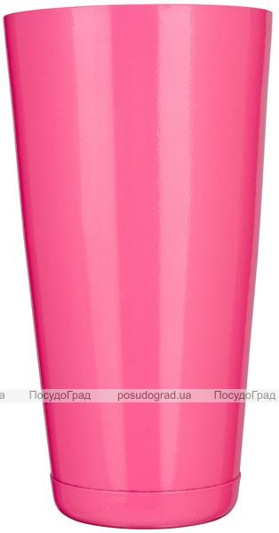 "Шейкер BARPRO ""Бостон"" (Boston) 750мл с утяжелителем, розового цвета"
