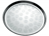 Поднос Empire круглый Ø25см, металлический круговым матовым декором