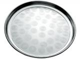 Піднос Empire круглий Ø25см, металевий з круговим матовим декором