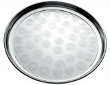 Піднос Empire круглий Ø30см, металевий з круговим матовим декором
