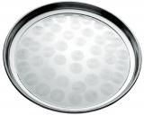 Піднос Empire круглий Ø35см, металевий з круговим матовим декором