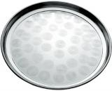 Піднос Empire круглий Ø40см, металевий з круговим матовим декором