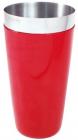 """Шейкер BARPRO """"Бостон"""" (Boston) 750мл з антиковзаючим покриттям, червоний"""