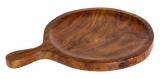 Доска деревянная Empire для пиццы Ø255мм, круглая с ручкой