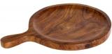 Доска деревянная Empire для пиццы Ø305мм, круглая с ручкой