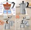 Гейзерная кофеварка Empire Coffee эспрессо 150мл на 3 чашки