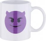 Кружка Emoticonworld Emoji 330мл каменная керамика, белая