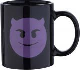 Кружка Emoticonworld Emoji 330мл каменная керамика, черная