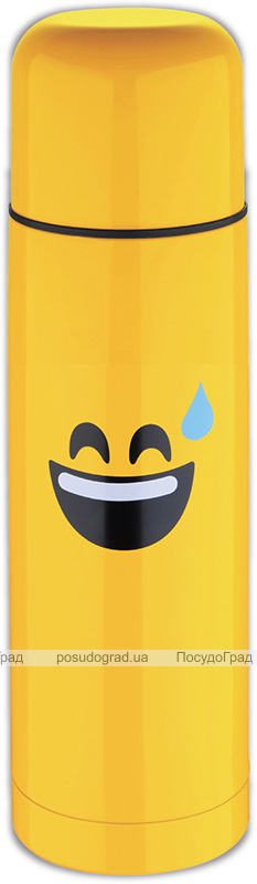 Термос Emoticonworld Happy 750мл, нержавеющая сталь