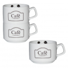 """Чашка для кофе """"CAFE"""" 150мл фарфоровая"""