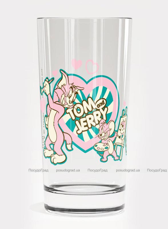 Стакан стеклянный WB Том и Джерри Pink-55 180мл