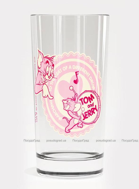 Стакан стеклянный WB Том и Джерри Pink-58 180мл