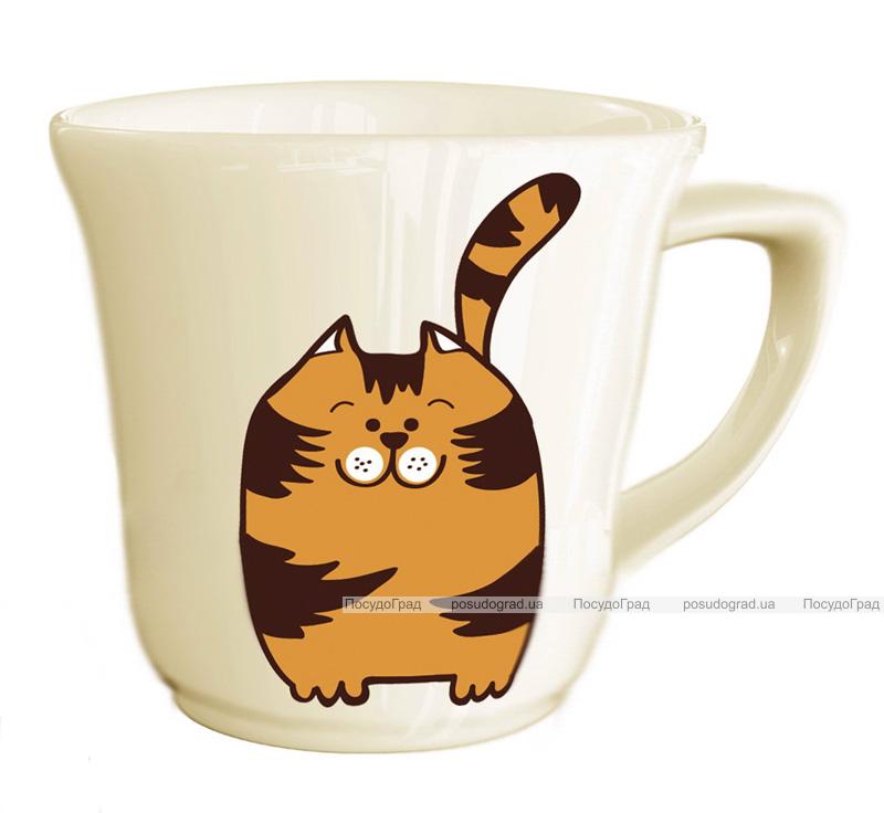 """Детская чашка """"Котик"""" 180мл из облегченной керамики"""