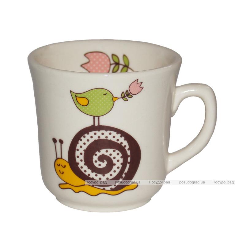 """Детская чашка """"Улитка"""" 200мл из облегченной керамики"""