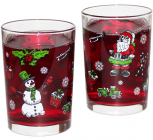 """Набор 2 новогодних стакана """"Дед Мороз и помощники"""" 290мл, стекло"""