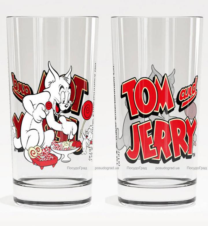 Стакан стеклянный WB Том и Джерри Трапеза-27 280мл