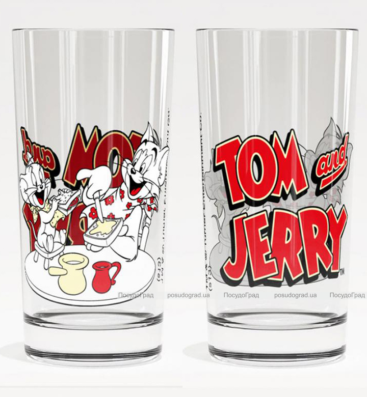 Стакан стеклянный WB Том и Джерри Трапеза-29 280мл