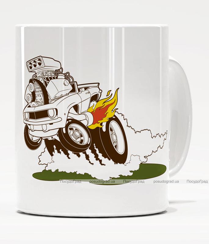 Фарфоровая кружка Warner Bros. Луни Моторз-09 350мл