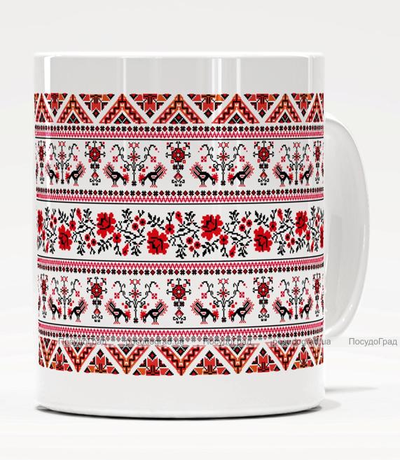Кружка Украинская Вышиванка керамика 350мл