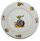 """Детская тарелка """"Улитка"""" Ø17.5см из облегченной керамики"""