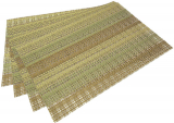 Набор 4 сервировочных коврика Fissman Cyprian-649 прямоугольные 45х30см, пвх