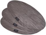 Набір 4 сервірувальних килимка Fissman Cyprian-675 овал 45х30см, пвх