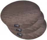 Набор 4 сервировочных коврика Fissman Cyprian-676 Ø36см, пвх