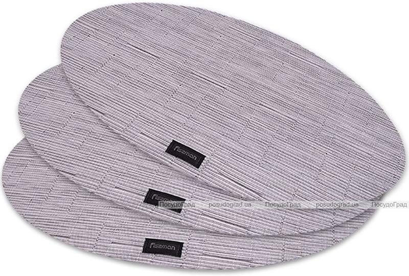 Набор 4 сервировочных коврика Fissman Cyprian-677 овал 45х30см, пвх