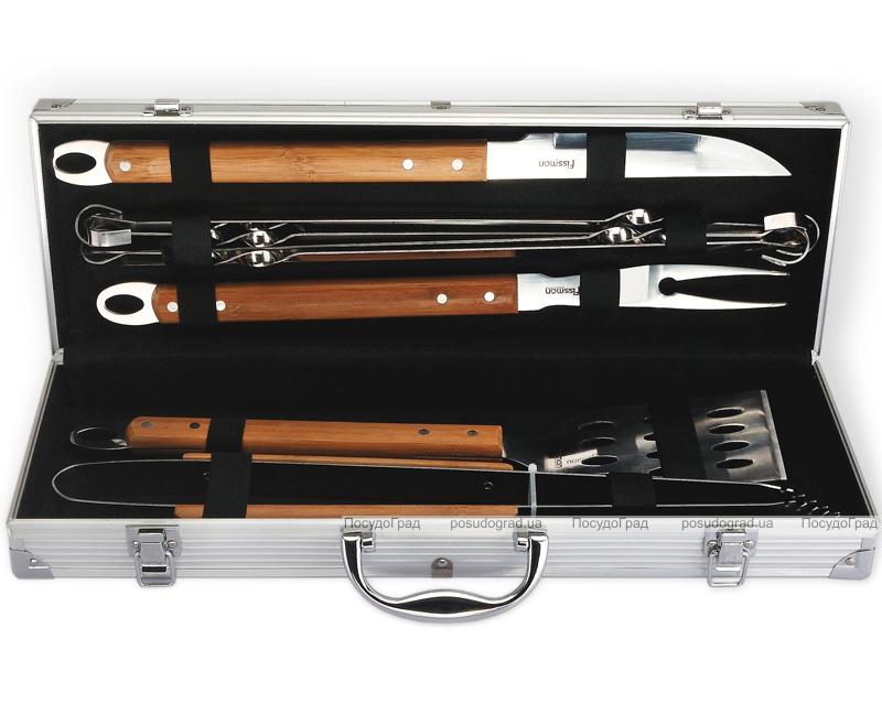 Набор для барбекю Fissman с бамбуковыми ручками 10 предметов в кейсе