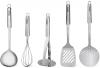 Набор кухонных аксессуаров Fissman Zonda 5 предметов на подставке, нержавеющая сталь