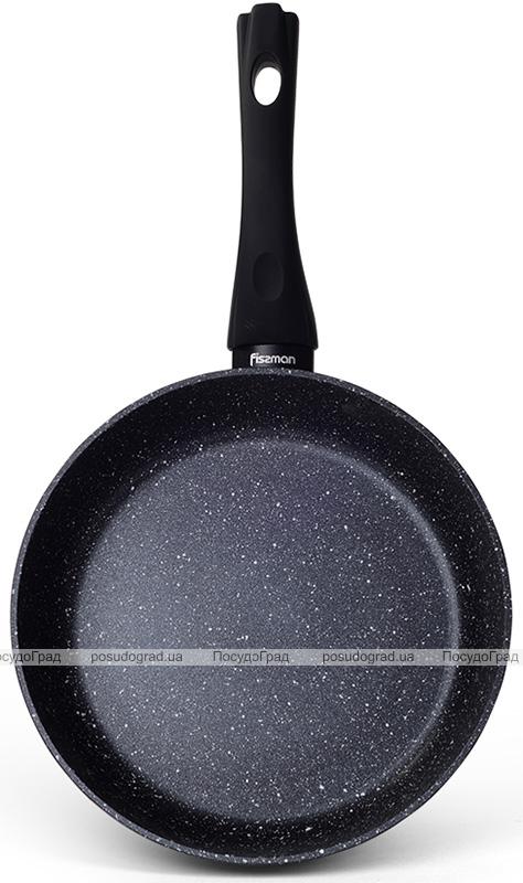 Сковорода глубокая Fissman Fiore Ø26см с антипригарным покрытием, черный