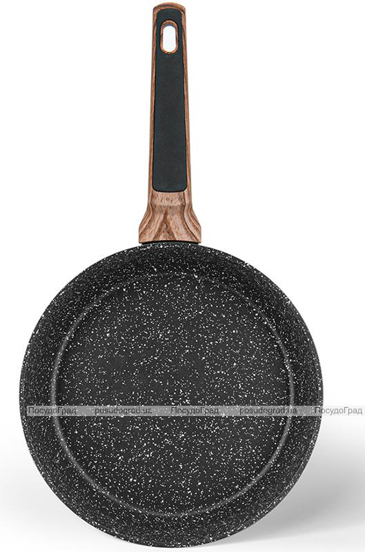 Сковорода глубокая Fissman Diamond Grey Ø24см с 5-слойным антипригарным покрытием, черный