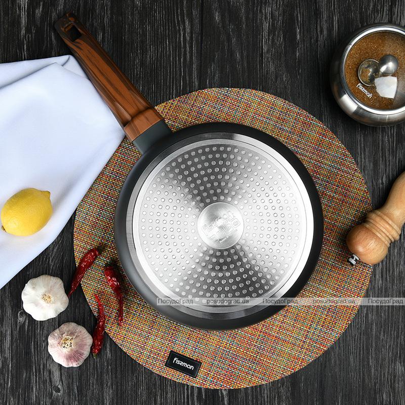 Сковорода-сотейник Fissman Capella Ø24см с антипригарным покрытием TiPro (титан)