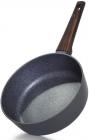 Сковорода-сотейник Fissman Capella Ø28см з антипригарним покриттям TiPro (титан)