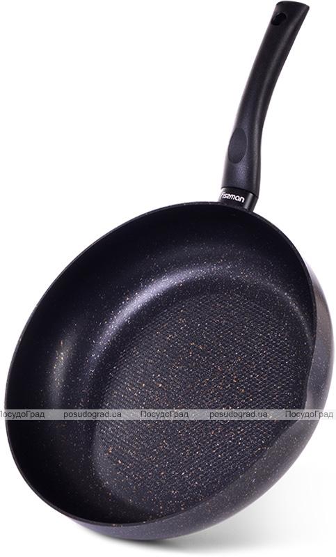 Сковорода-сотейник з носиком Fissman Promo Ø26см з антипригарним покриттям TouchStone (кам'яна крихта)
