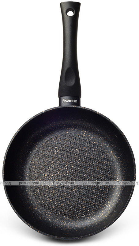 Сковорода-сотейник Fissman Promo Ø24см с антипригарным покрытием TouchStone (каменная крошка)