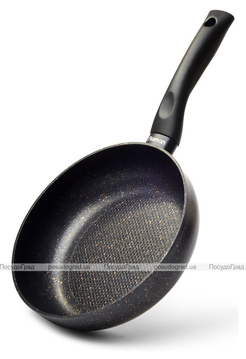 Сковорода-сотейник Fissman Promo Ø26см з антипригарним покриттям TouchStone (кам'яна крихта)
