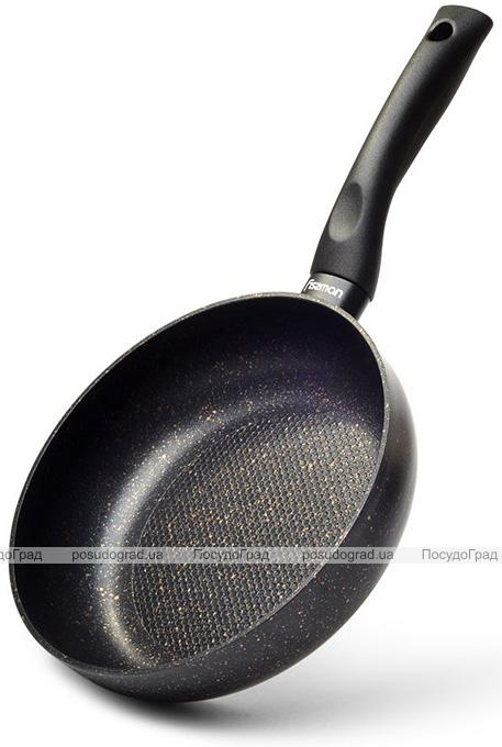 Сковорода-сотейник Fissman Promo Ø28см с антипригарным покрытием TouchStone (каменная крошка)