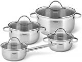 Набір кухонного посуду Fissman Gabriela, 8 предметів, з нержавіючої сталі