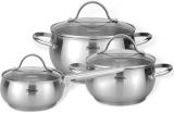 Набір кухонного посуду Fissman MARTINEZ 6 предметів, з нержавіючої сталі