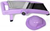 Овощерезка-шинковка Fissman PROFI с механическим переключателем насадок, лиловая