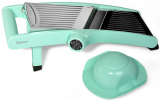 Овощерезка-шинковка Fissman PROFI с механическим переключателем насадок, аквамарин