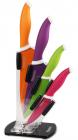 Набір Fissman Sambuka 4 кухонних ножів на акриловій підставці