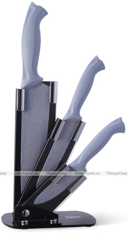 Набір Fissman Gobi 3 кухонні ножі на акриловій підставці