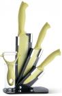 Набір Fissman Gobi 4 кухонні ножі на акриловій підставці