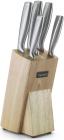 Набір ножів Fissman Bremen 5 предметів на дерев'яній підставці