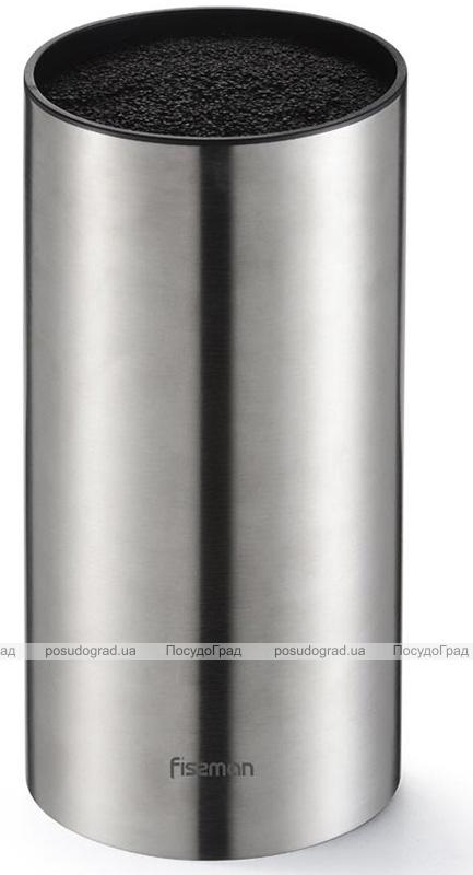 Колода-подставка для ножей Fissman Steel Ø11х22см, нержавеющая сталь с наполнителем