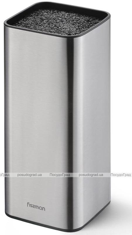 Колода-подставка для ножей Fissman Steel 9.5x9.5x22.5см, нержавеющая сталь